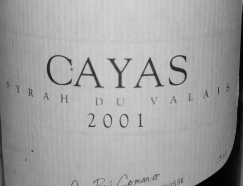 "Cayas ""Syrah"" Jean-René Germanier, Wallis, Schweiz 2001"