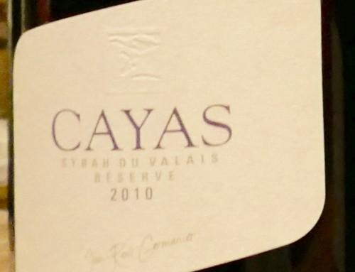 "Cayas ""Syrah"" Jean-René Germanier, Wallis, Schweiz 2010"
